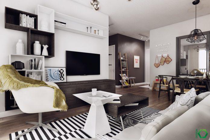 Nordic apartment interior design