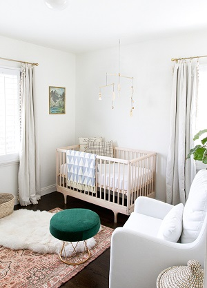 Enticing nursery design