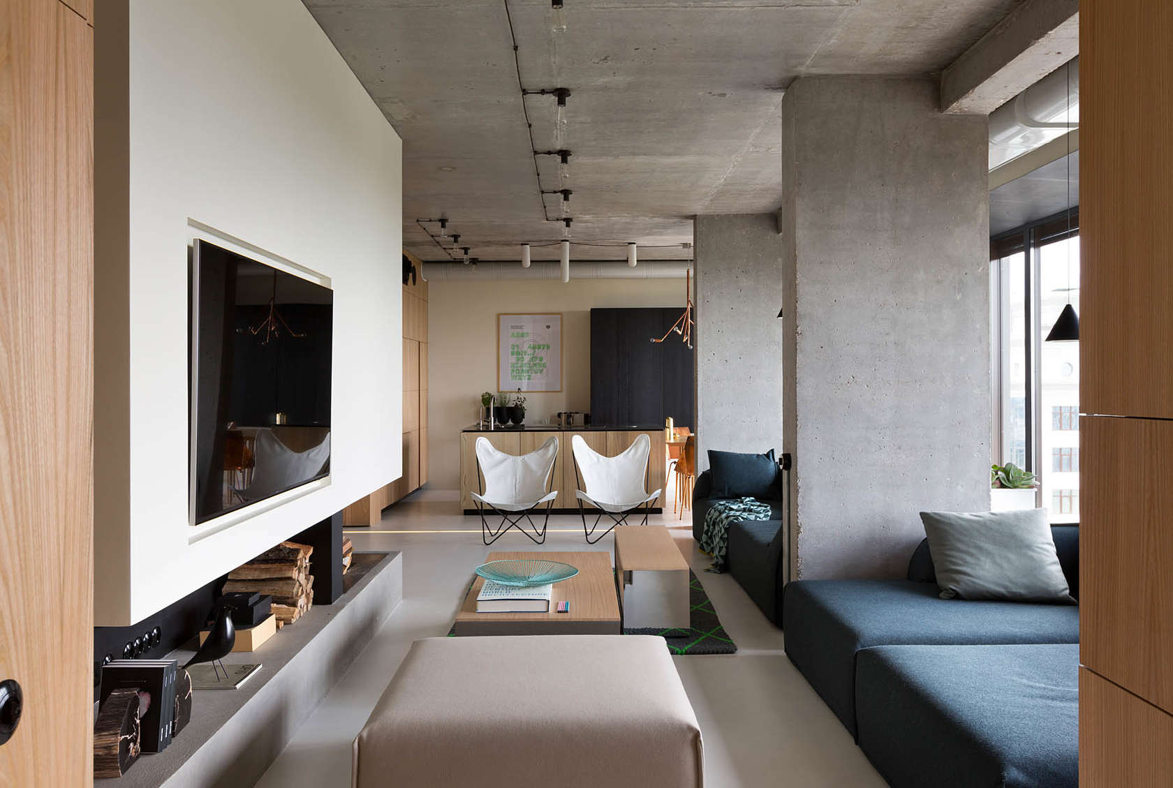 The beauty of minimalist penthouse