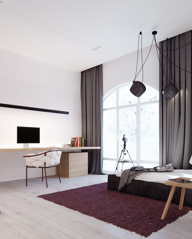 Modern stylish bedroom design for teen
