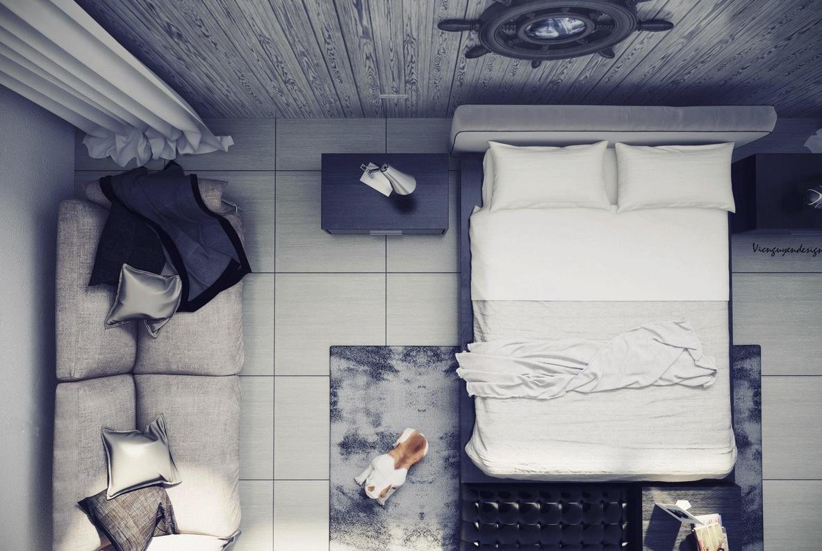 Sleek apartment design