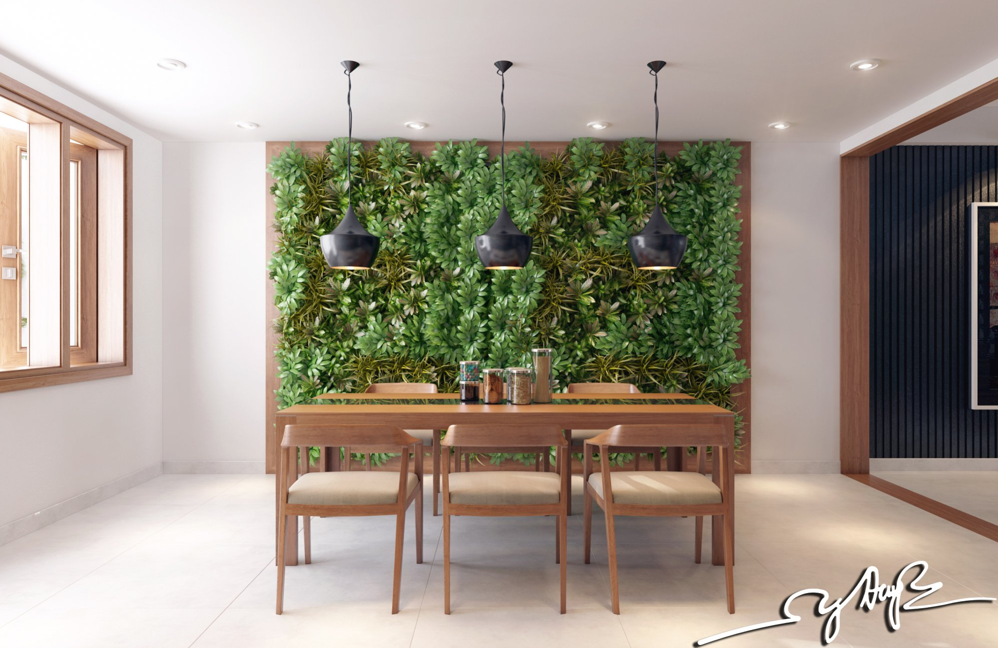Garden wall interior design ideas