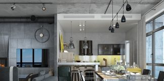 Industrial loft apartment design ideas