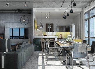 Inspiration to create minimalist house design using soft color with spa room inside roohome - Elegant minimalist loft design in masculine vibe wooden decoration ...