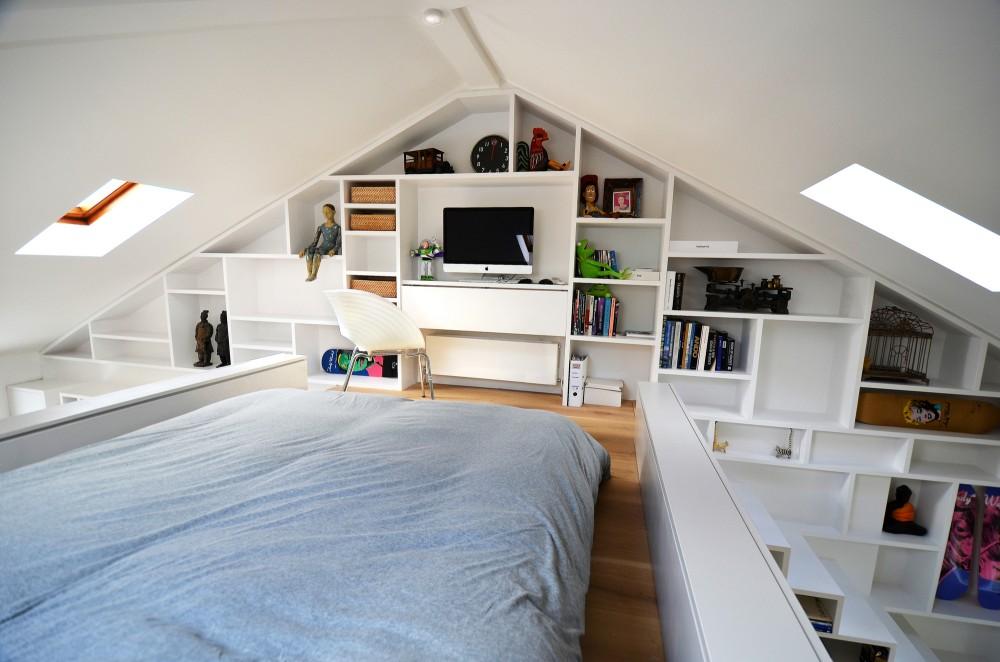 Beautiful loft bedroom design