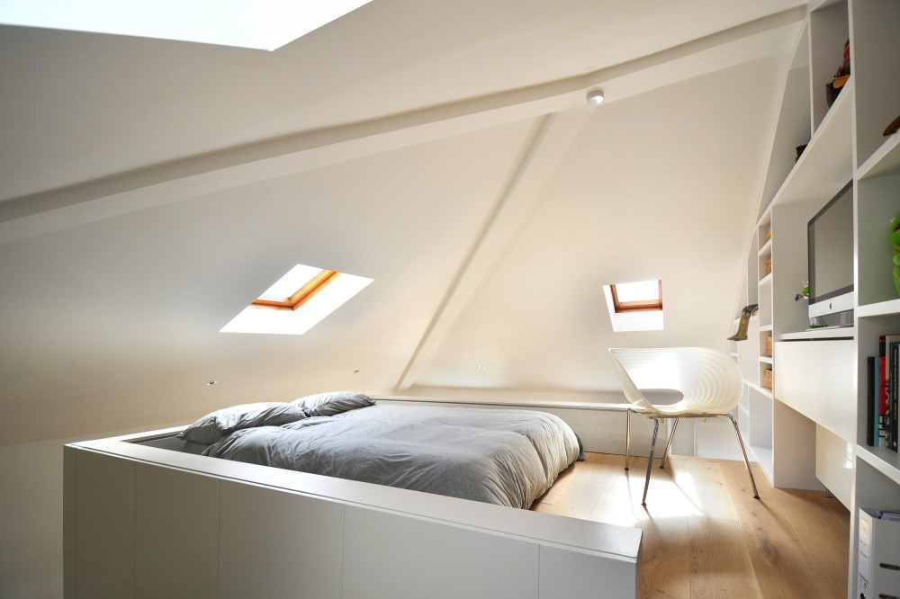 Beautiful loft bedroom design