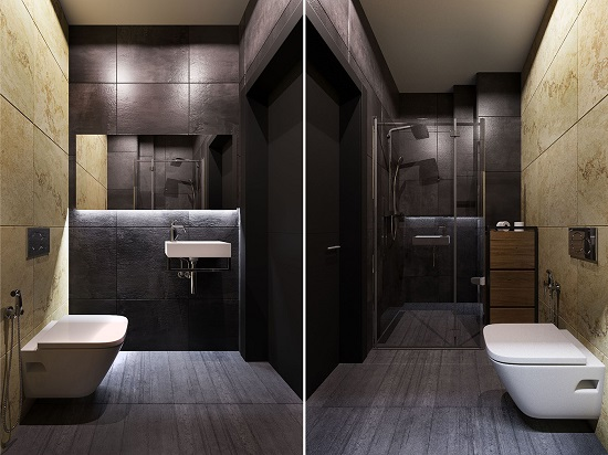Minimalist bathroom creative design