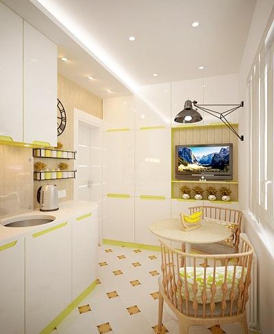 Minimalist design for small kitchen