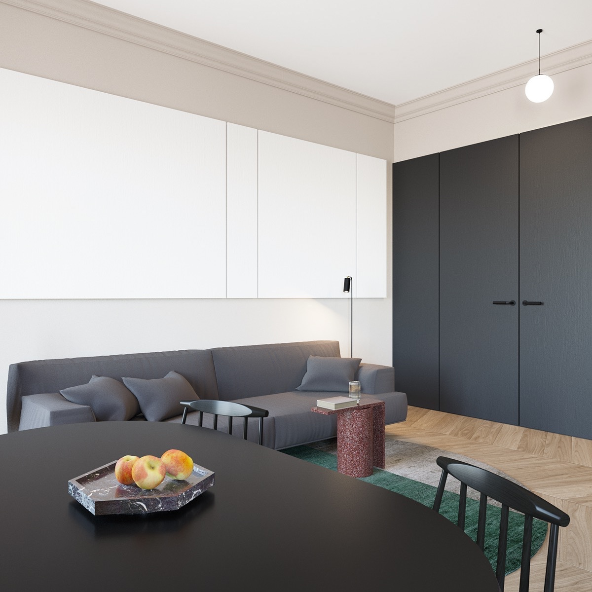 Small apartment kitchen design minimalist wonderful for Minimalist small apartment