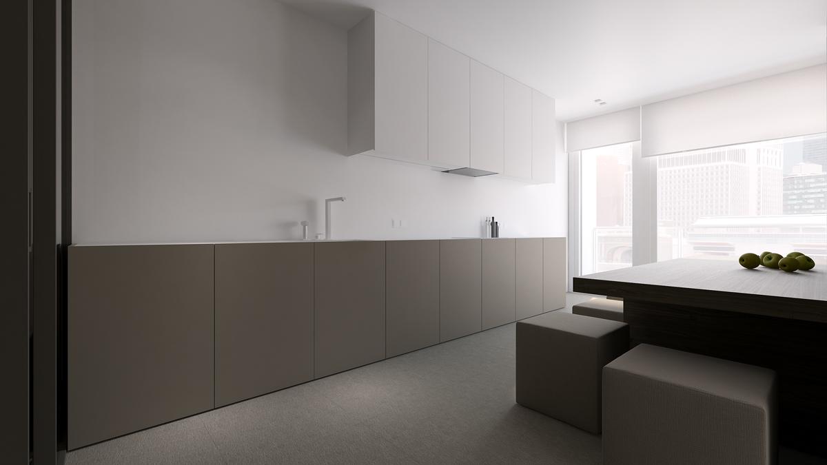 Gray apartment design with minimalist concept