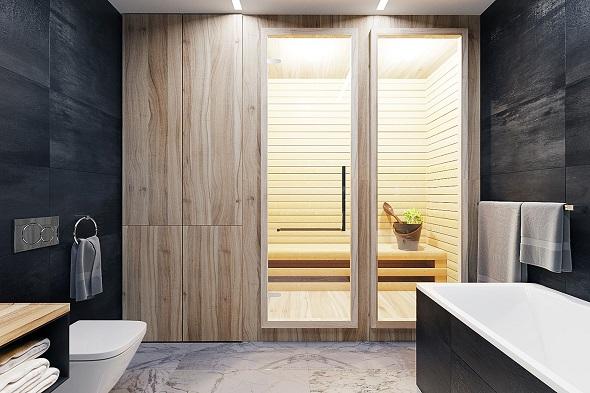 Minimalist sauna design