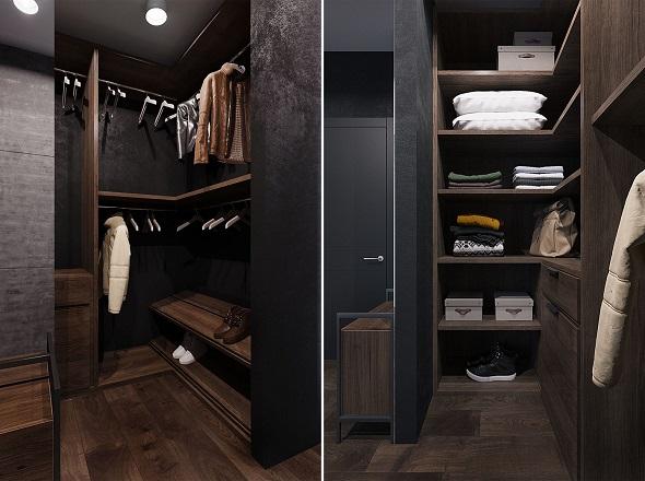 Minimalist wardrobe design