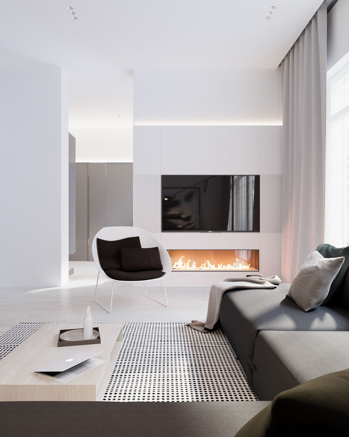 Modern Stylish Apartment Interior Design In A Simplicity RooHome