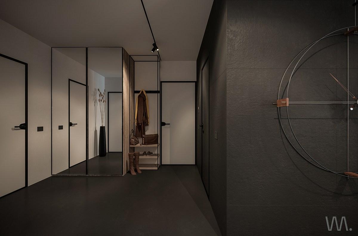 Black apartment design