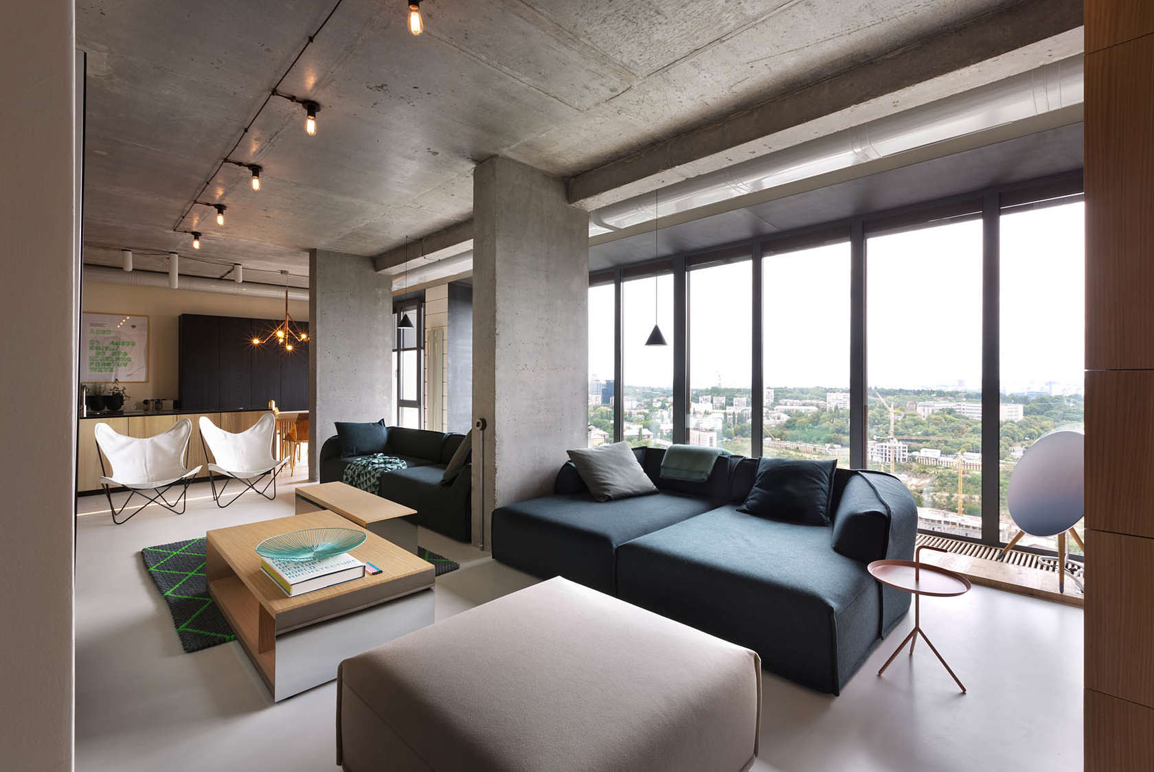 Olga Akulova DESIGN Minimalist penthouse design The