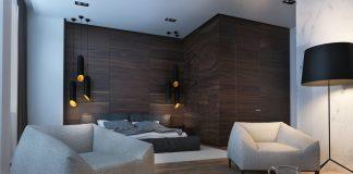 Dark studio apartment design