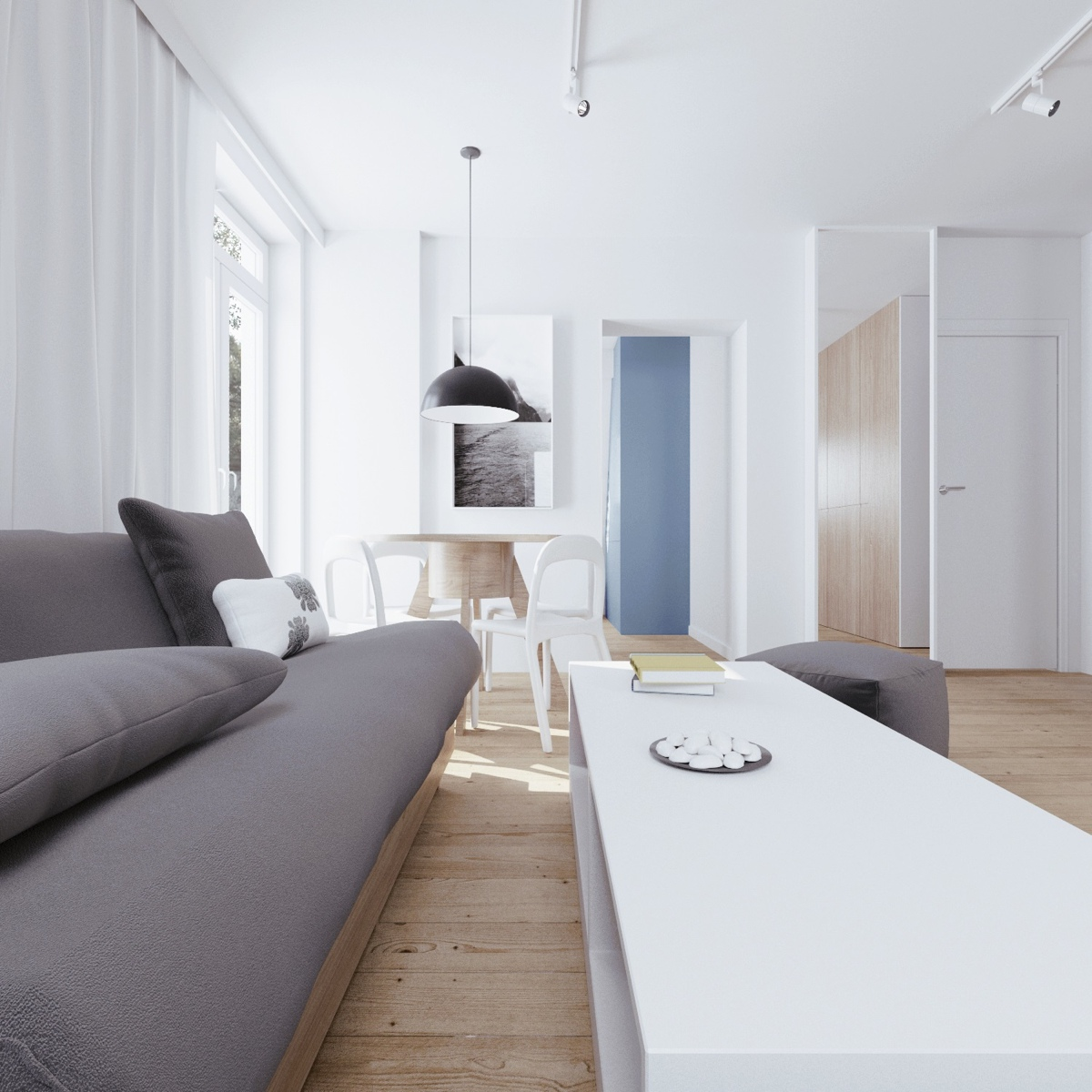 Minimalist Apartment Design With Soft Color Scheme Roohome