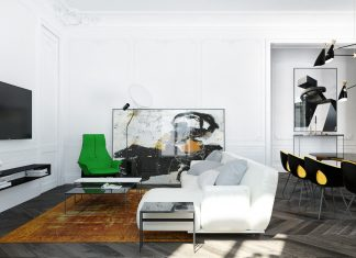 Modern apartment with classical features