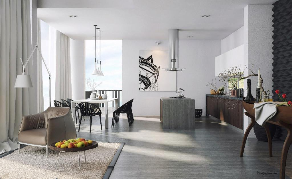 Sleek apartment interior design