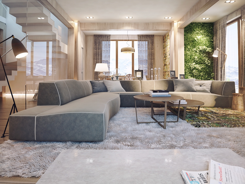 Wood interior design style