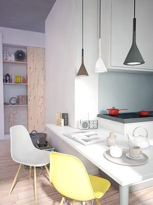 Modern mini loft design
