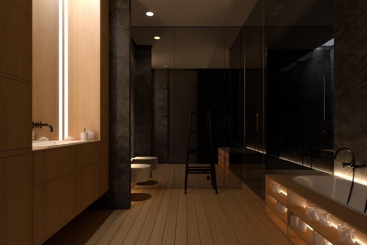 Luxury bathroom interior design