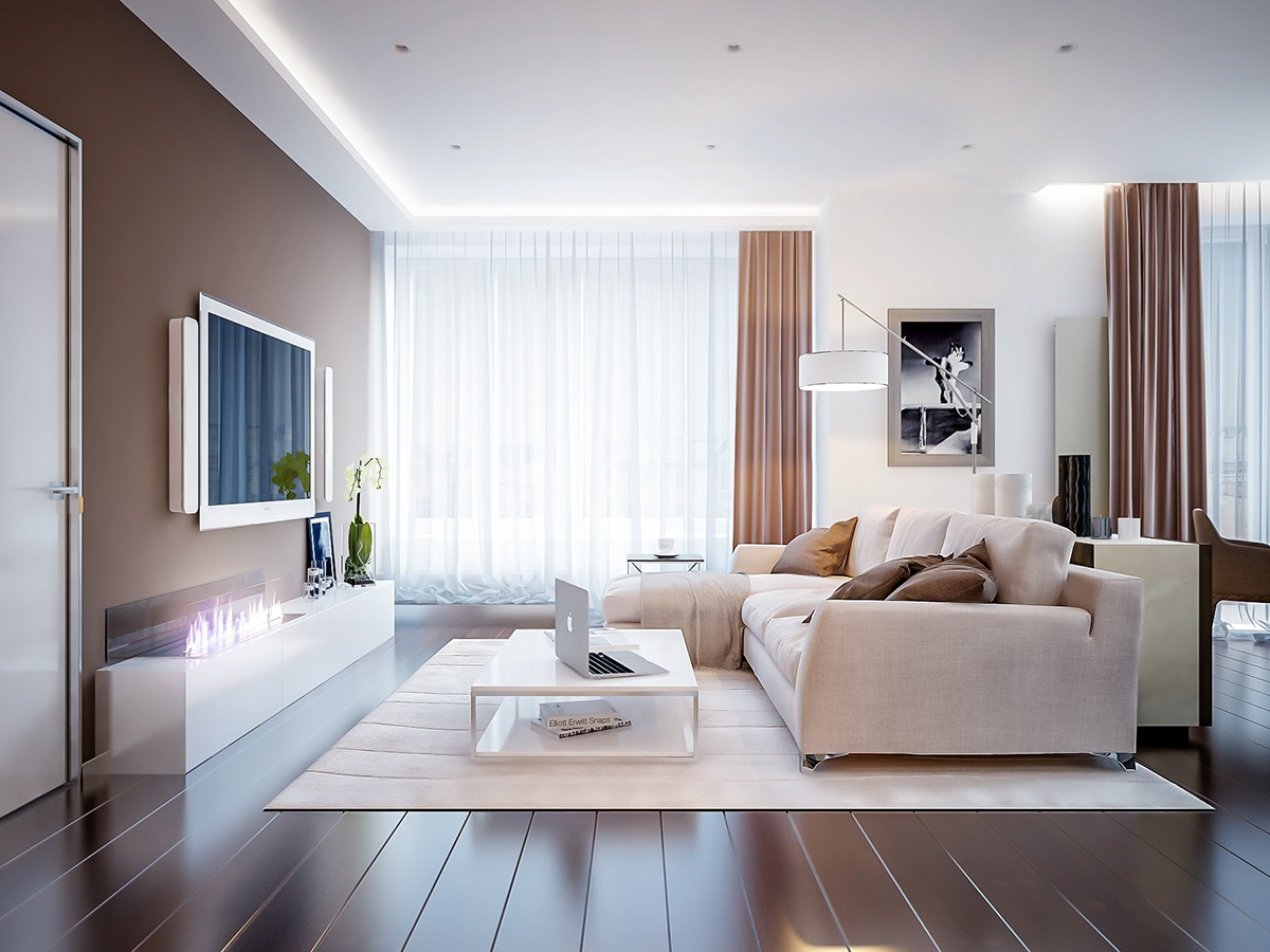 Neutral color living room designs