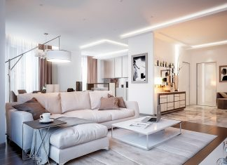 Neutral color living room design