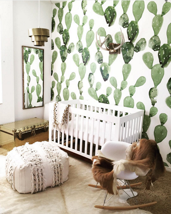 Nursery design with natural pattern
