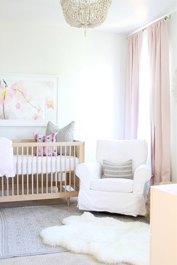 Nursery design with shade of pastel