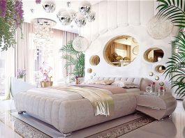 Luxury bedroom design for woman