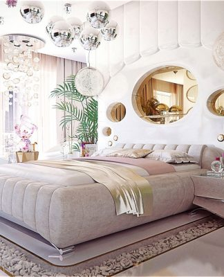 Luxury bedroom design for woman