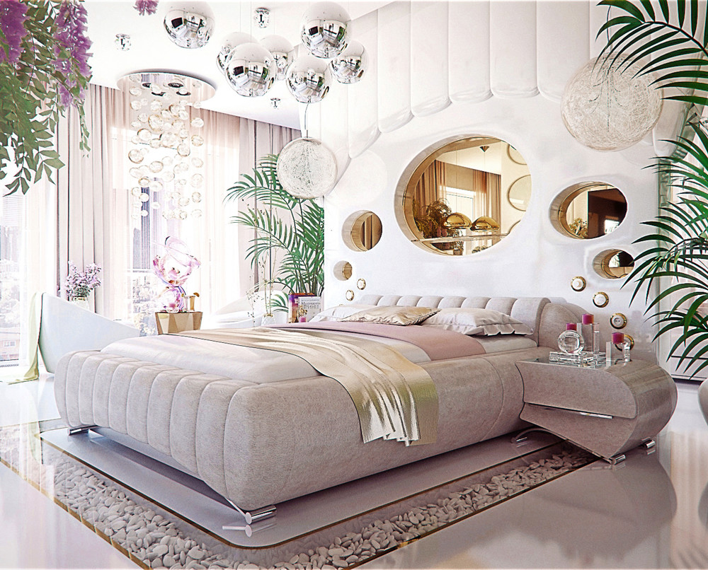 Luxury bedroom interior design that will make any woman for Bedroom theme design