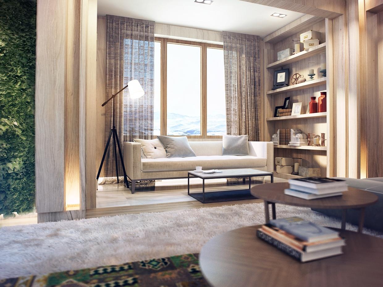 Beautiful wood interior design