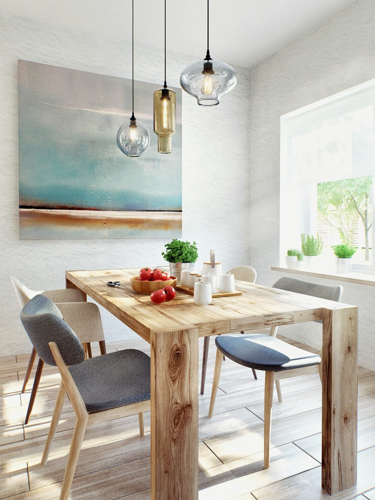 Applying Scandinavian Dining Room Designs Completed With