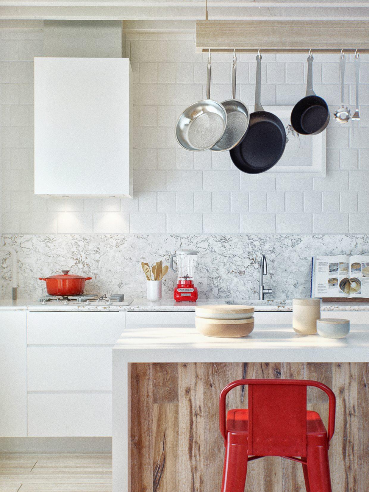 minimalist kitchen bar design