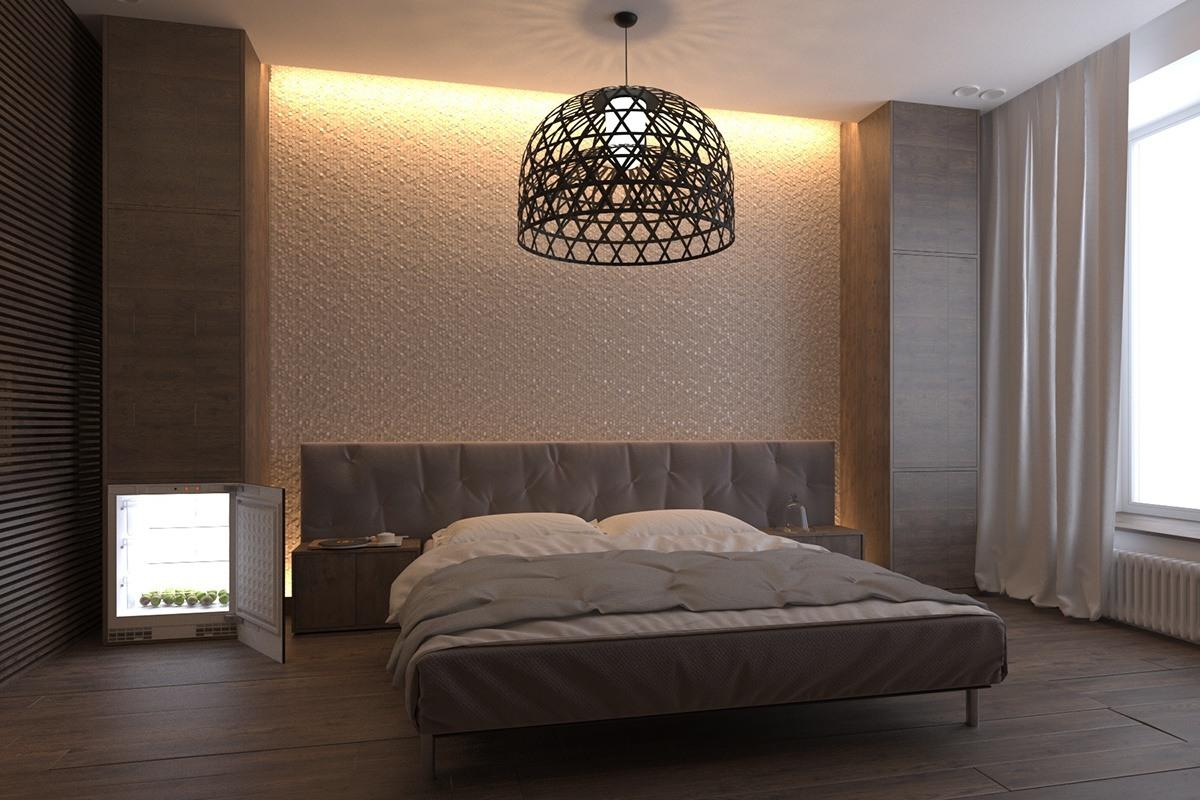 Dark bedroom interior style