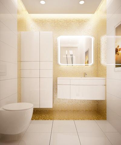 Restroom design with pastel colour