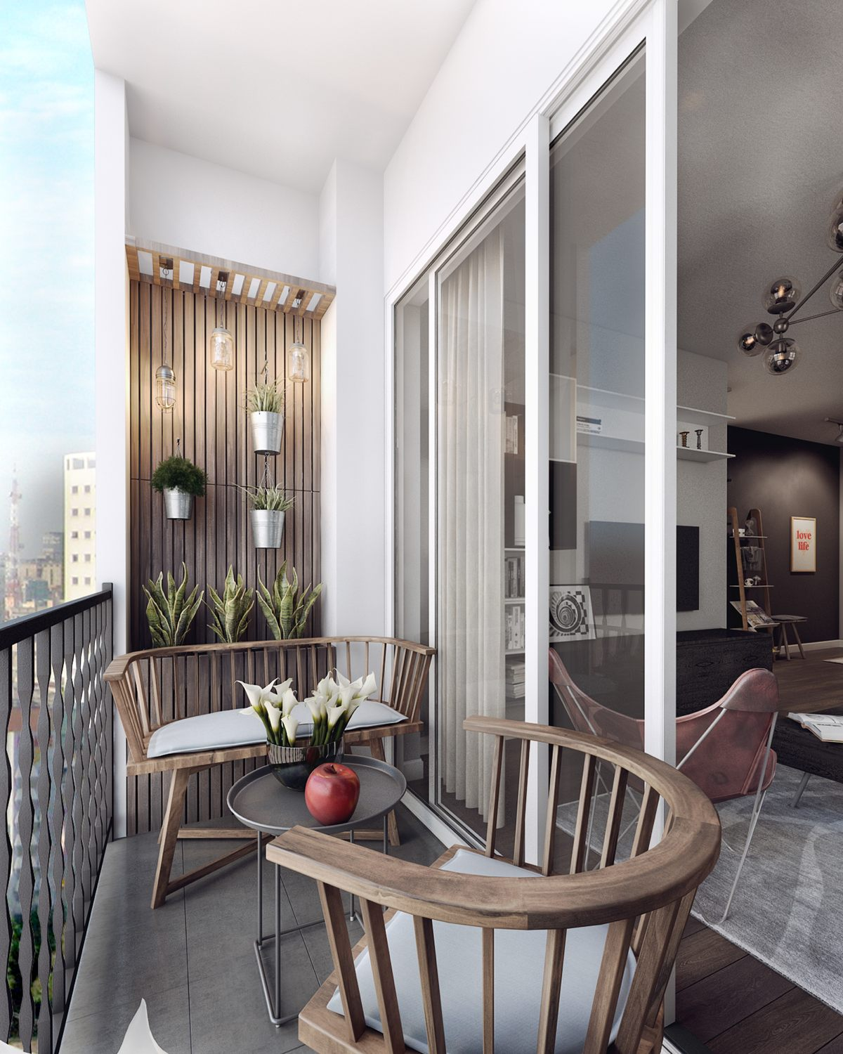 rustic balcony design ideas