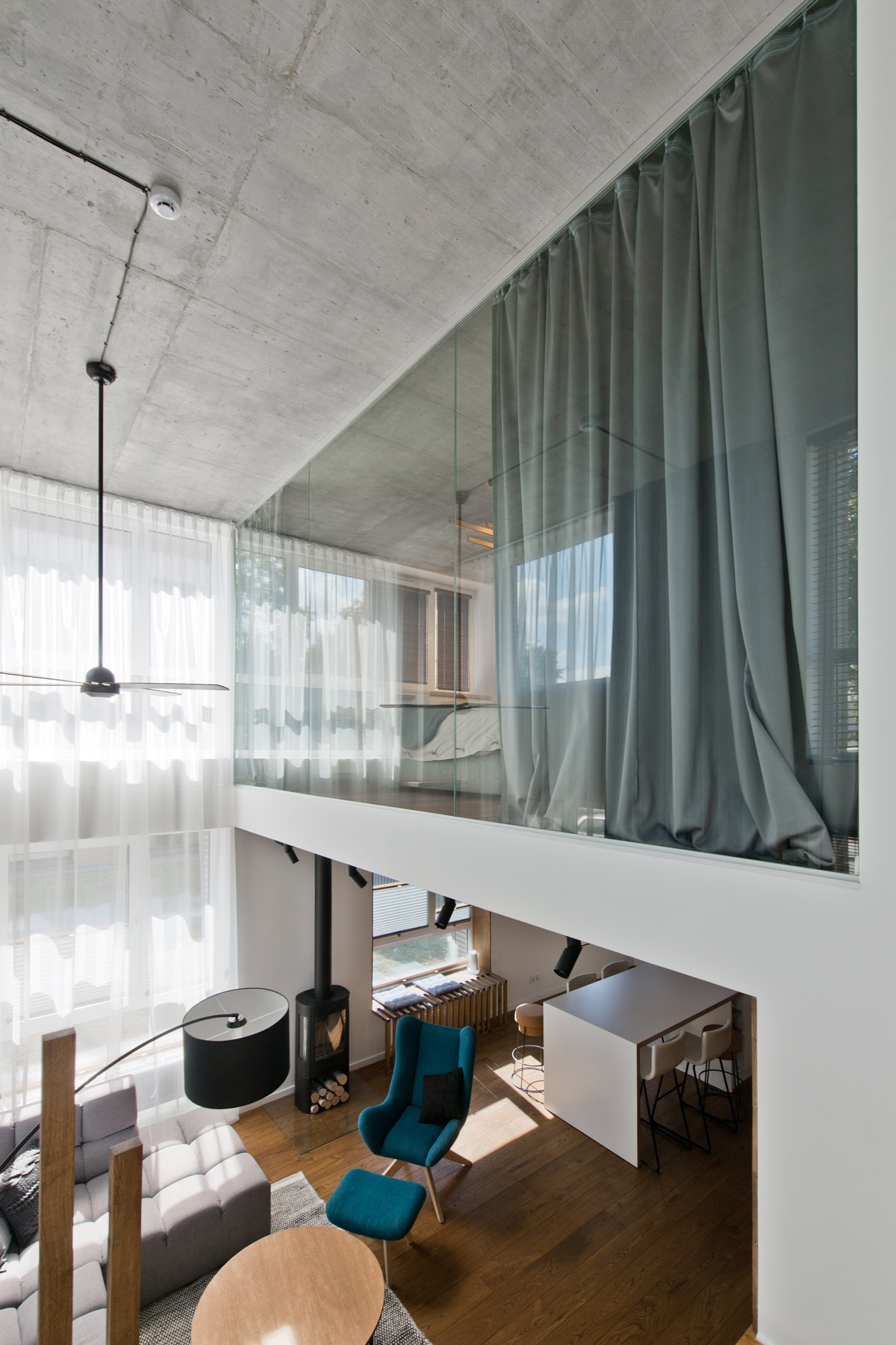 Scandinavian loft apartment interior design