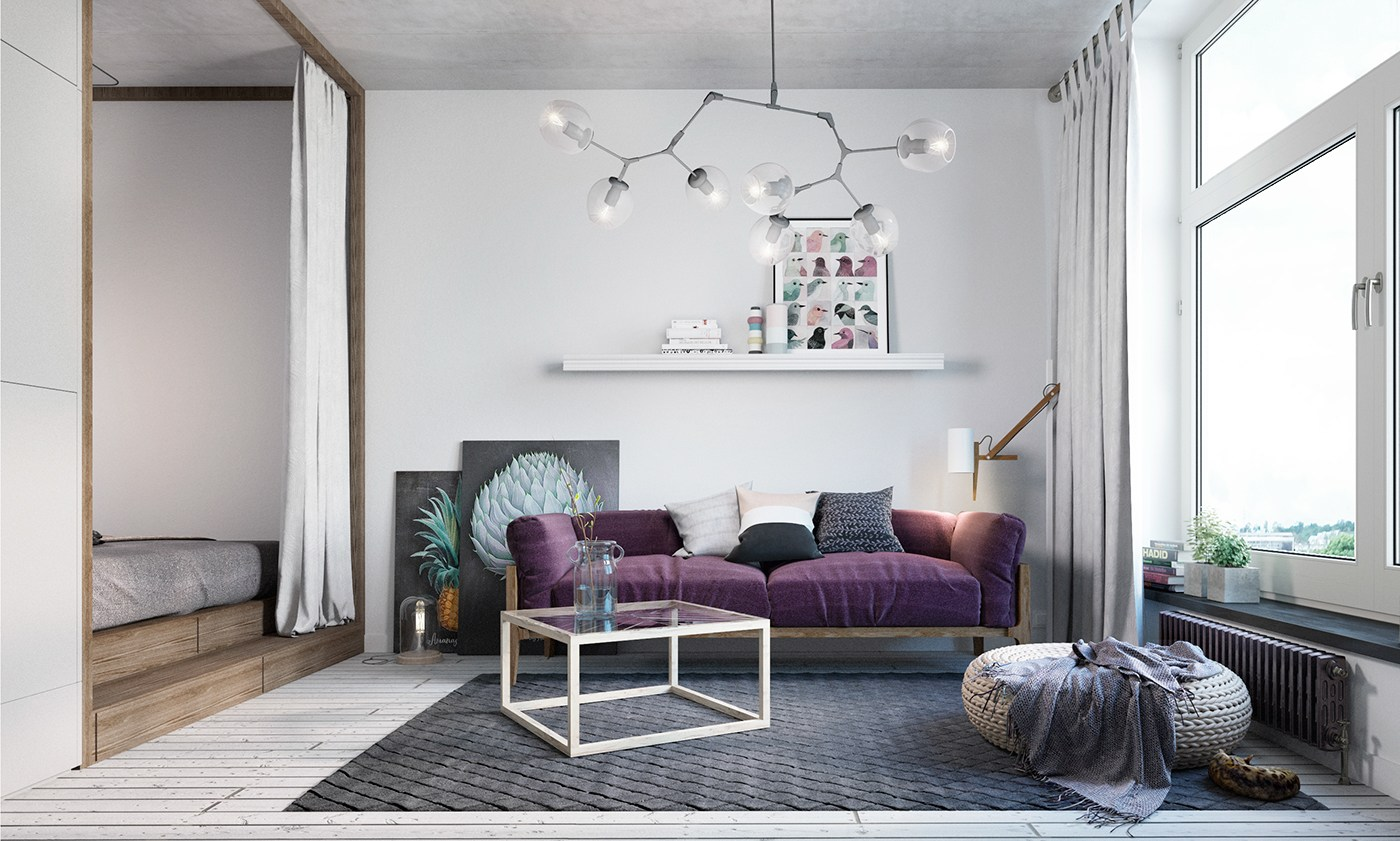 small apartment design with scandinavian style that looks