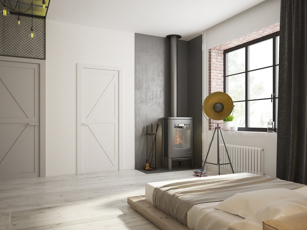 industrial bedroom style