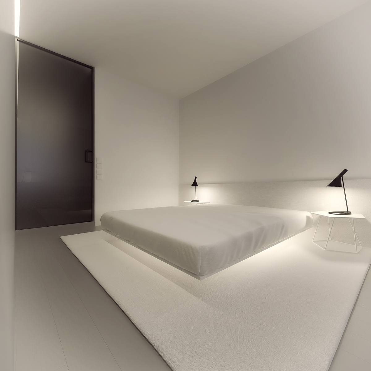Minimalist Apartment Interior Design With Gray Color Paint Ideas