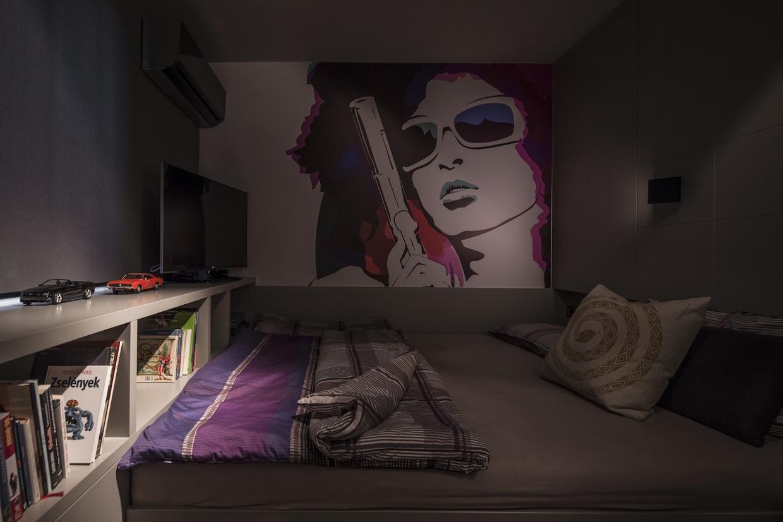 Industrial bedroom design style
