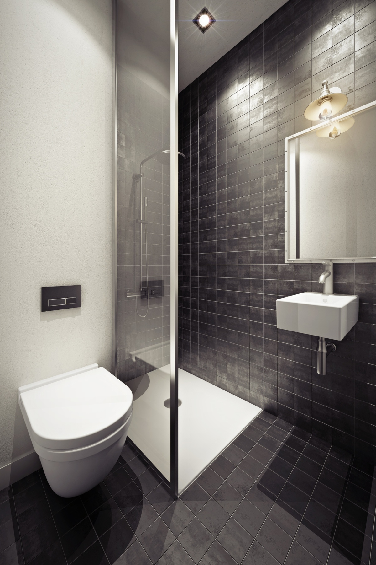 Urban bathroom design style