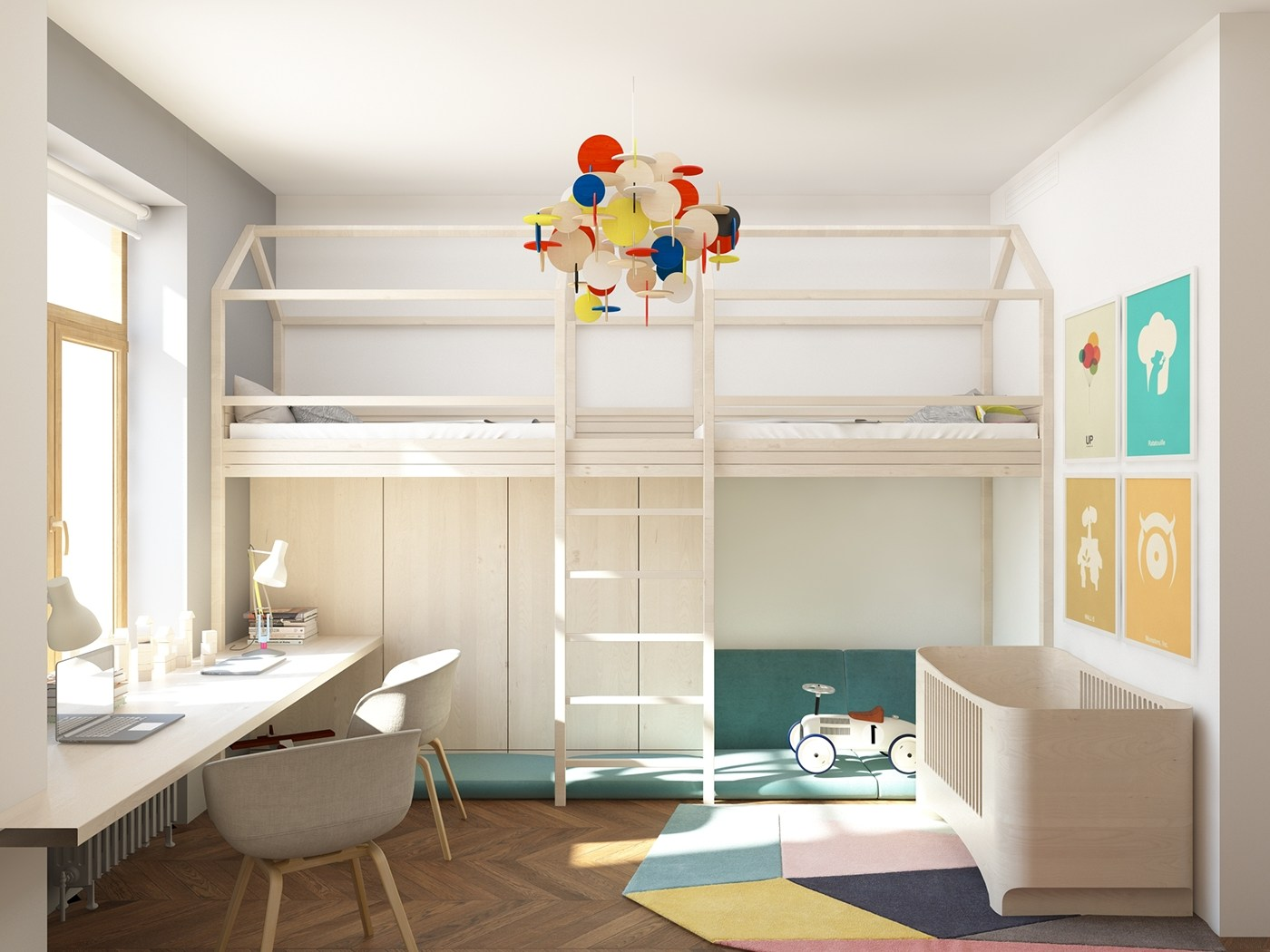 Traditional kids bedroom design