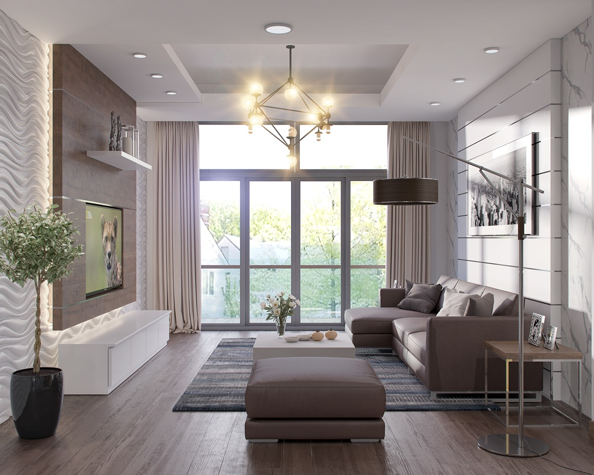 Neutral color scheme for living room