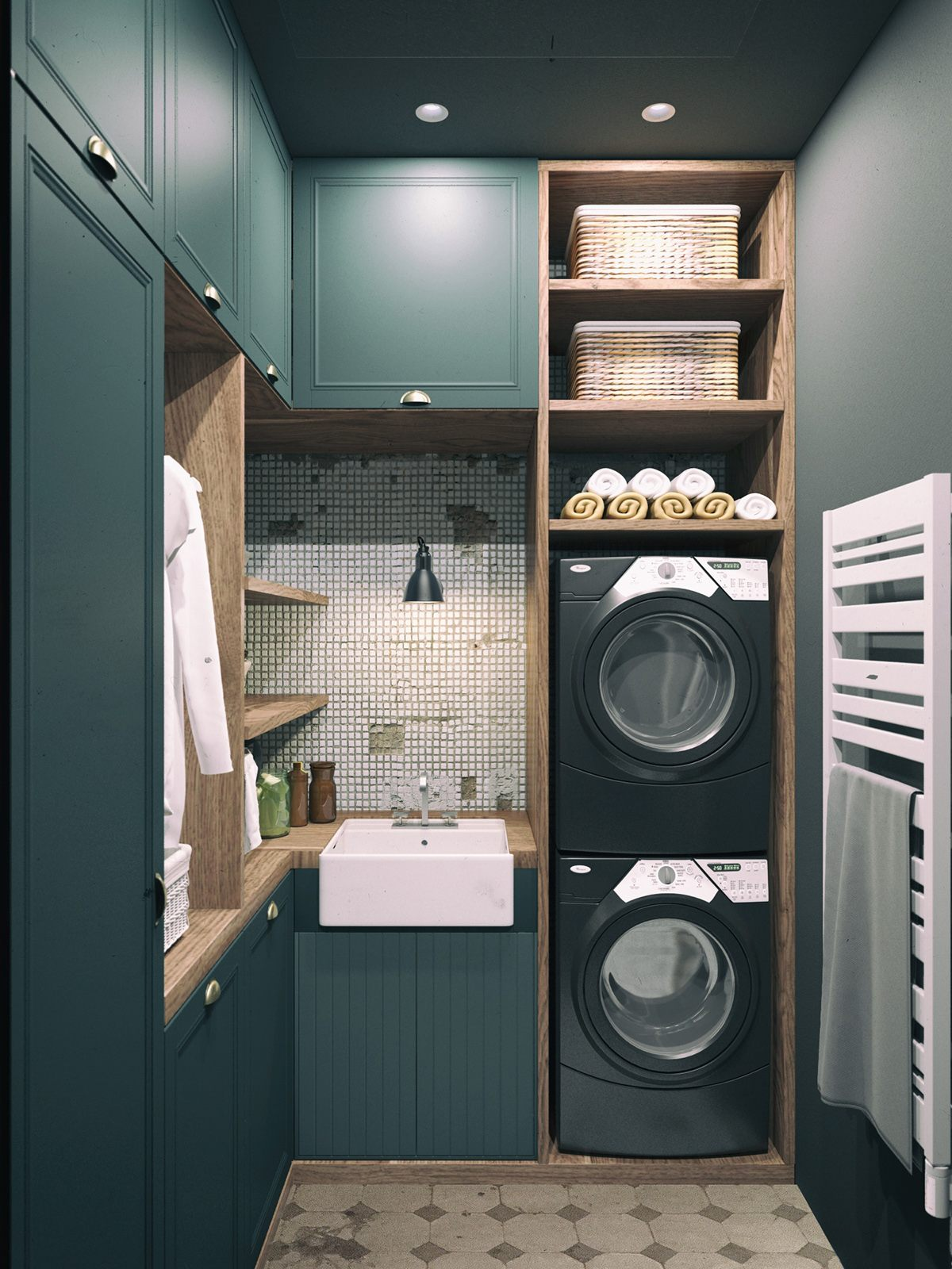 Country style laundry room design