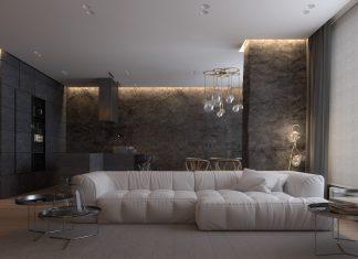 Luxurious apartment design with sexy dark interior design