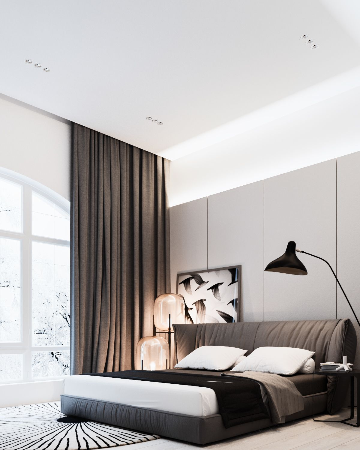 Modern bedroom interior style